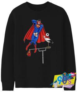 Man of Steel Parody Superman Sweatshirt