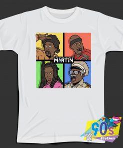 Martin Multi Sitcom Characters 90s T Shirt Style