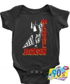 Michael Jackson Checkered Baby Onesie