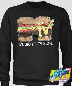 Music Television Hamburger Custom Sweatshirt