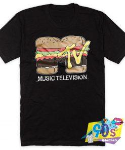 Music Television Parody Hamburger T Shirt
