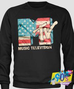 Music Television USA FLAG Sweatshirt