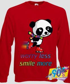 Panda Skating Rainbow Vintage 90s Sweatshirt