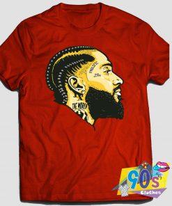 Rapper Nipsey Hussle Hip Hop 90s T Shirt Style