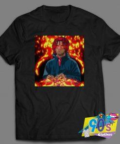 Rapper Trippy Redd Fire Art T Shirt
