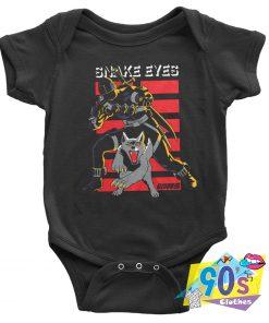 Retro G.I. Joe The Rise of Cobra Baby Onesie