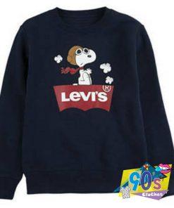 Snoopy Parody Levis Sweatshirt