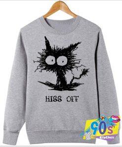 Scary Hiss Off Funny Cat Sweatshirt