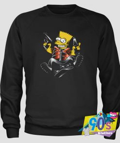 The Simpsons Hold Gun And Drink Hip Hop Sweatshirt