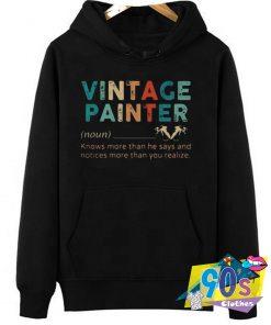 Vintage Painter Meaning Hoodie