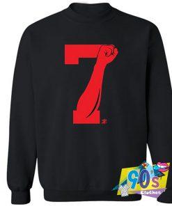 7 Fist Up Graphic Sweatshirt