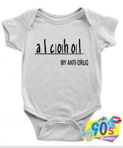Alcohol Anti Drug Slogan Baby Onesie