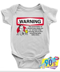 Alcohol Warning Sign Baby Onesie