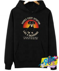 Handle Every Situation Dachshund Pitbull Dog Hoodie