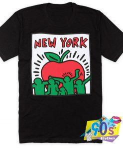 Keith Haring Pop Art Big Apple Poster T Shirt