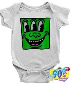 Keith Haring Pop Shop Smile Face Baby Onesie