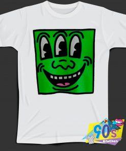 Keith Haring Pop Shop Smiling Meme T Shirt