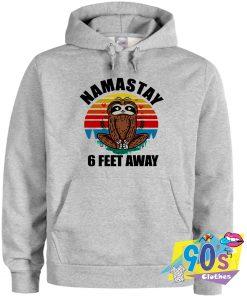 Namaste 6 Feet Away Social Distancing Hoodie
