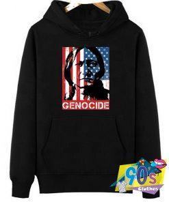 Native American Genocid Flag Graphic Hoodie