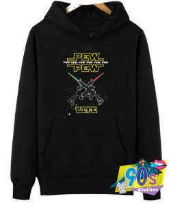 PEW PEW Life Star Wars Movie Hoodie