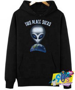 Sucks Alien UFO Hoodie