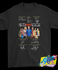 The Big Bang Theory Autograph Signature Graphic T Shirt