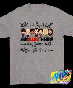 The Big Bang Theory Chibi Characters Autograph Signature T Shirt