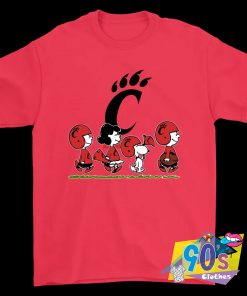 The Peanuts Cheer For The Cincinnati Bearcats NCAA T Shirt