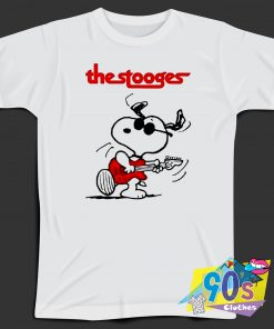 The Stooges Snoopy Guitar Graphic T Shirt