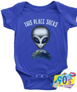 This Place Sucks Alien Space Galaxy Baby Onesie
