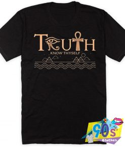Truth Know Thyself Pyramid Artwork T Shirt
