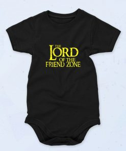 Black The Lord Of The Friend Zone Funny Baby Onesie