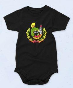 Black The Martians Squad Funny Baby Onesie