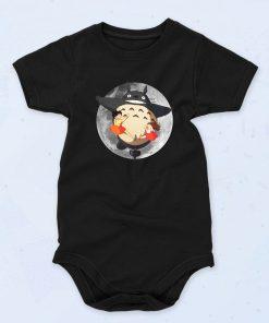 Black Totoro Dark Moon Funny Baby Onesie