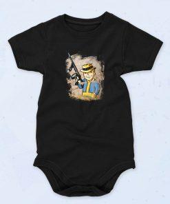 Black Vault Boy Gangsta Funny Baby Onesie