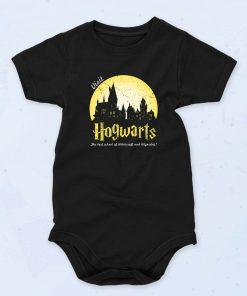 Black Visit Hogwarts Funny Baby Onesie