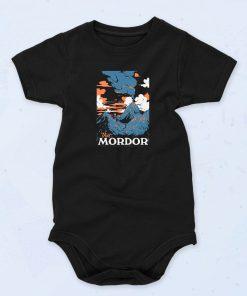 Black Visit Mordor Funny Baby Onesie
