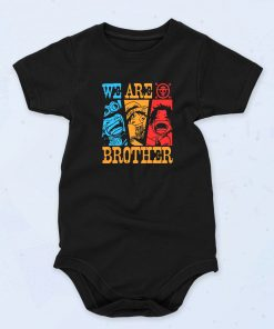 Black We Are Brother Anime Funny Baby Onesie