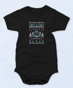 Black Wibbly Wobbly Timey Wimey Doctor Who Quote Funny Baby Onesie