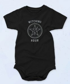 Black Witching Hour Funny Baby Onesie