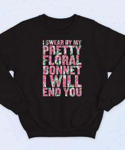 I Swear By My Pretty Floral Fashionable Sweatshirt
