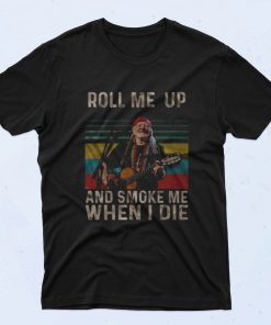 Willie Nelson Roll Me Up 90s T Shirt Style